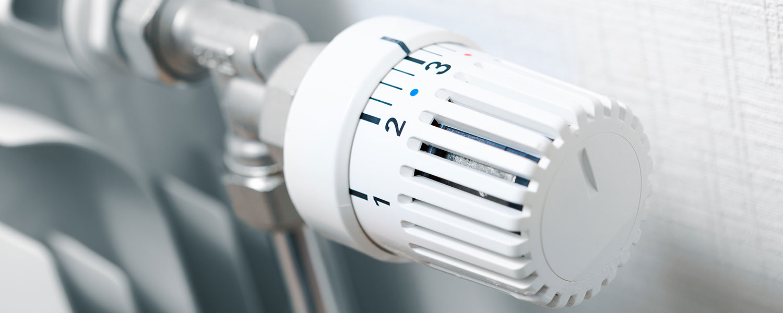 Temperaturregler an einer Heizung
